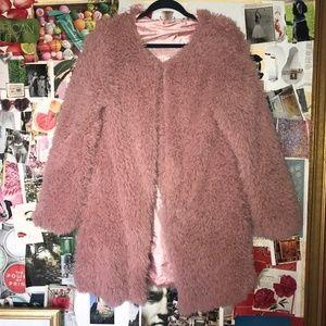 Pink Fuzzy Faux Fur Jacket